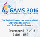 Global Advanced Materials & Surfaces 2016 International Conference & Exhibition